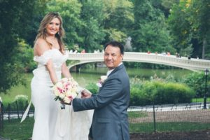 Central Park wedding locations bow bridge