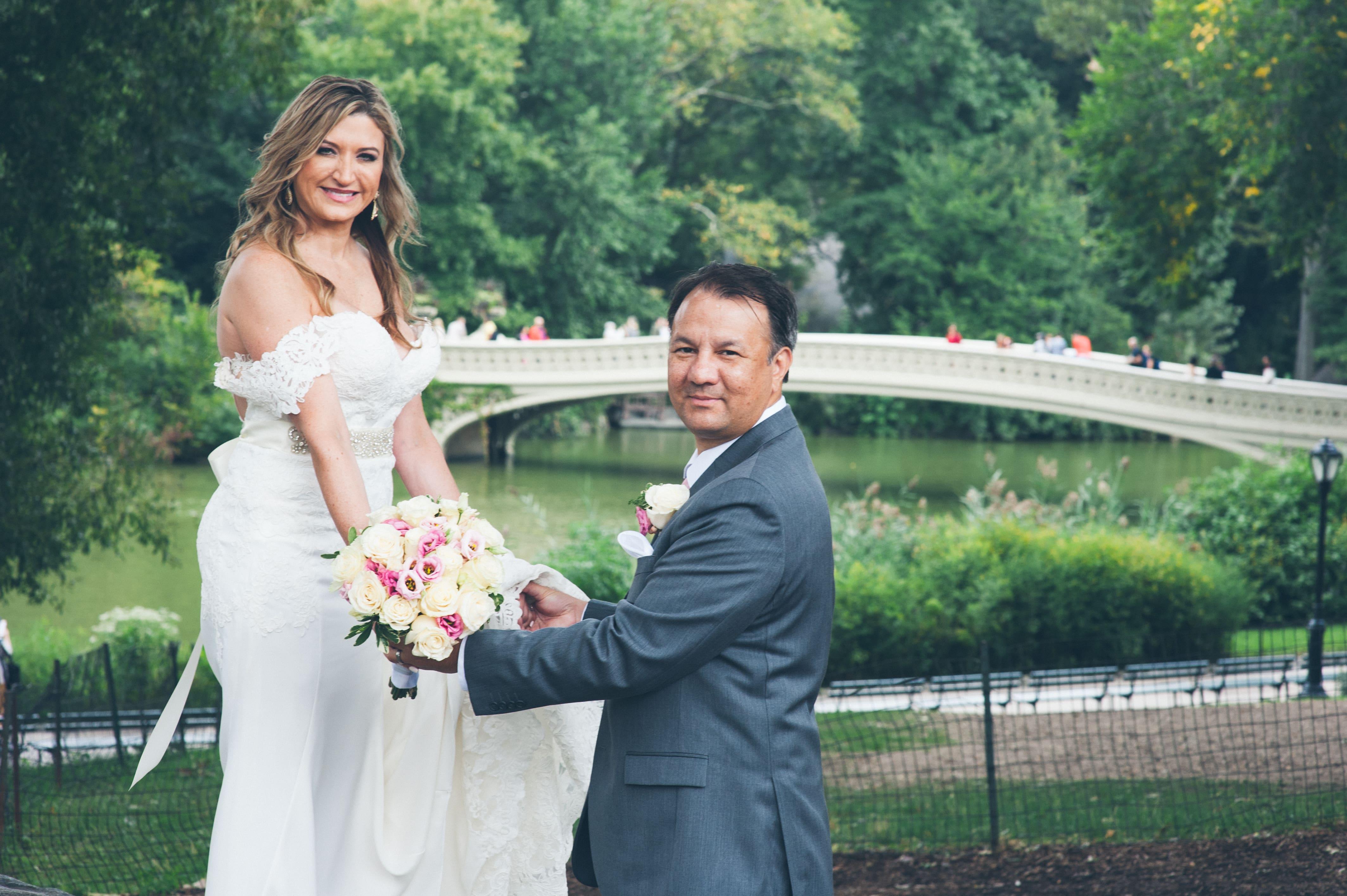 Central Park wedding locations bow bridge